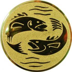 Эмблема для медалей самоклеющаяся Рыбалка.