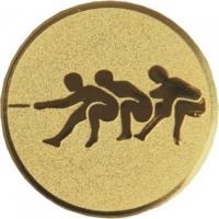 Эмблема для медалей алюминиевая  А139 Перетягивание каната.