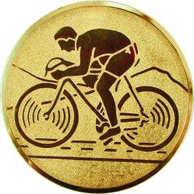 Эмблема для медалей алюминиевая А99 Велогонки.