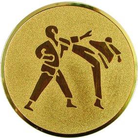 Эмблема для медалей алюминиевая А60 Каратэ.