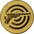 Эмблема для медалей алюминиевая А51 Стрельба из пистолета.