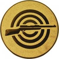 Эмблема для медалей алюминиевая А50 Стрельба из винтовки.