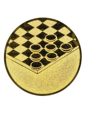 Эмблема для медалей алюминиевая А23 Шашки.