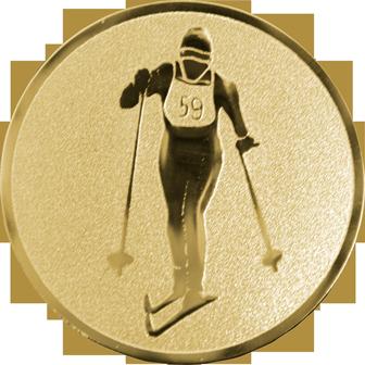 Эмблема для медалей самоклеющаяся  Лыжные гонки.