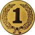 Эмблема для медалей алюминиевая А36 Первое место.