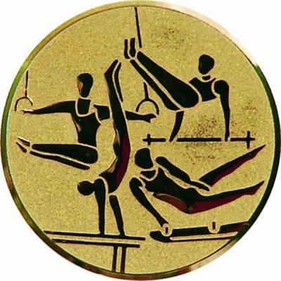 Эмблема для медалей алюминиевая  А131 Гимнастика.
