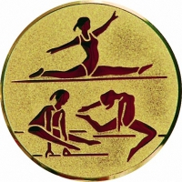 Эмблема для медалей алюминиевая  А130 Гимнастика.
