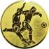 Эмблема для медалей алюминиевая А2 футбол.