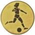 Эмблема для медалей алюминиевая А3 футбол (Ж).