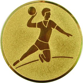 Эмблема для медалей алюминиевая А4 Гандбол (м).