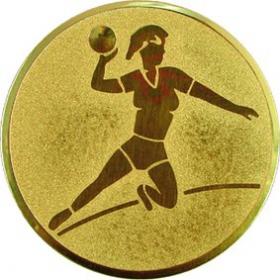 Эмблема для медалей алюминиевая А5 Гандбол (ж).
