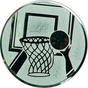 Эмблема для медалей алюминиевая А8 Баскетбол.