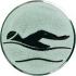 Эмблема для медалей алюминиевая А9 Плавание.