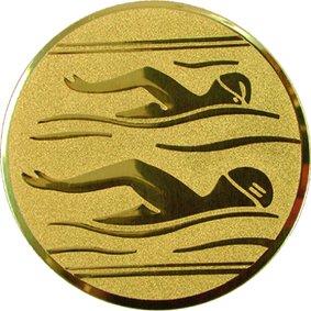 Эмблема для медалей алюминиевая А10 Плавание.