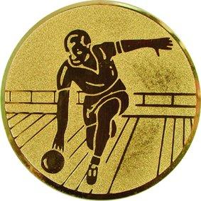 Эмблема для медалей алюминиевая А14 Боулинг.