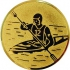 Эмблема для медалей алюминиевая А19 Байдарка.