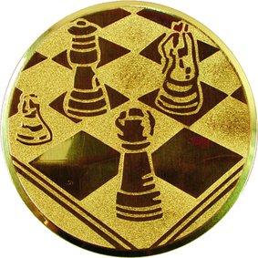 Эмблема для медалей алюминиевая А22 Шахматы.