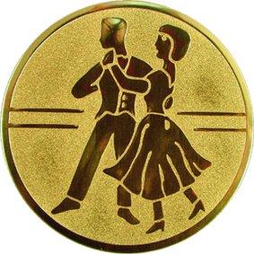 Эмблема для медалей алюминиевая А24 Танцы.