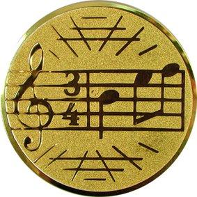 Эмблема для медалей алюминиевая А26 Музыка.