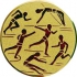 Эмблема для медалей алюминиевая А29 Легкая атлетика/бег/многоборье