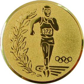 Эмблема для медалей алюминиевая А34 Легкая атлетика/бег/многоборье