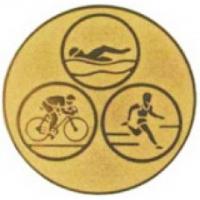 Эмблема для медалей алюминиевая А35 Триатлон.