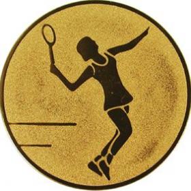 Эмблема для медалей алюминиевая А44 Большой теннис (ж).