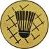 Эмблема для медалей алюминиевая А45 Бадминтон.