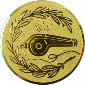Эмблема для медалей алюминиевая А48 Свисток.