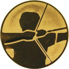 Эмблема для медалей алюминиевая А54 Стрельба из лука.