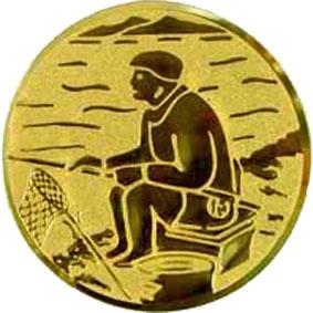 Эмблема для медалей алюминиевая А55 Рыболовный спорт.