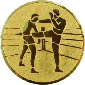 Эмблема для медалей алюминиевая А58 Кикбоксинг.