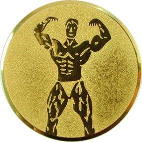Эмблема для медалей алюминиевая А62 Бодибилдинг/культуризм.