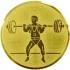 Эмблема для медалей алюминиевая А70 Тяжелая атлетика.
