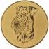 Эмблема для медалей алюминиевая А81 Выставка собак.