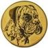 Эмблема для медалей алюминиевая А82 Выставка собак.