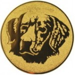 Эмблема для медалей алюминиевая А83 Выставка собак.