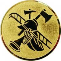 Эмблема для медалей алюминиевая А85 Пожарный спорт.