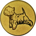 Эмблема для медалей алюминиевая А90 Выставка собак.