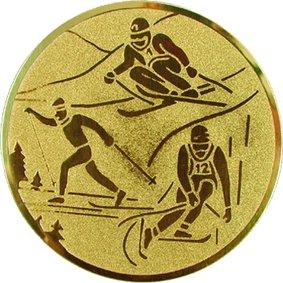 Эмблема для медалей алюминиевая А92 Лыжные гонки.