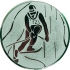 Эмблема для медалей алюминиевая А94 Лыжные гонки.