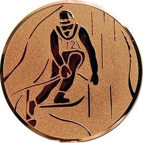 Эмблема для медалей алюминиевая А93 Лыжные гонки.