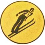 Эмблема для медалей алюминиевая А95 Прыжки с трамплина.
