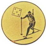 Эмблема для медалей алюминиевая А96 Биатлон.