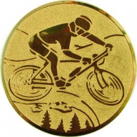 Эмблема для медалей алюминиевая А102 Велогонки.