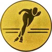 Эмблема для медалей алюминиевая А107 Конькобежный спорт.