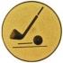 Эмблема для медалей алюминиевая А108 Гольф.