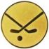Эмблема для медалей алюминиевая А109 Хоккей с мячом.