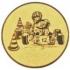 Эмблема для медалей алюминиевая  А117 Картинг.