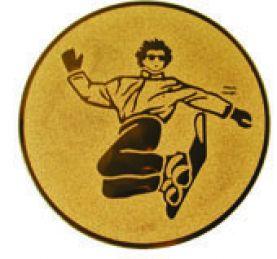 Эмблема для медалей алюминиевая  А128 Сноуборд.